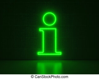 Information Symbol - Series Neon Signs
