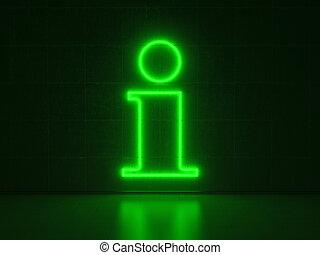 Information Symbol - Series Neon Signs