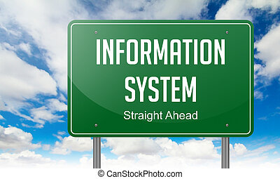Information System on Highway Signpost.
