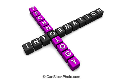 Information Technology as a Concept in 3d Blocks