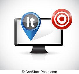 information technology computer target concept