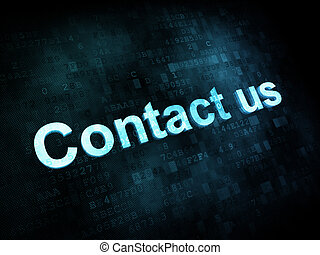 Information technology concept: pixelated words Contact us ...