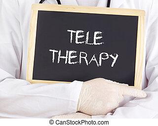 information:, teletherapy, doktor, widać
