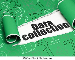 information, texte, déchiré, collection, papier, noir, sous, morceau, données, concept: