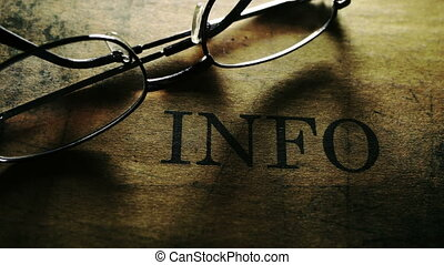 information, texte, verres lecture