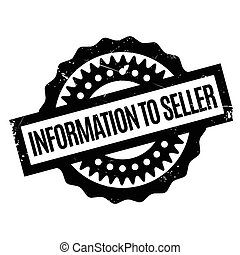 Information To Seller rubber stamp