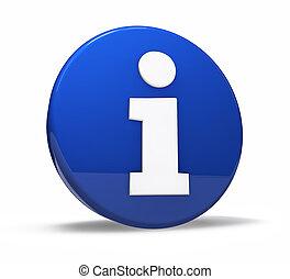 information, toile, symbole, bouton