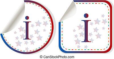 information, toile, symbole information, sybmol, lettre, signe, conception, bouton