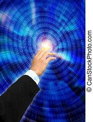 information, toucher, technologie