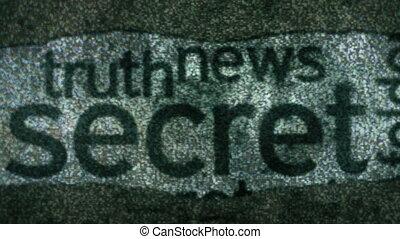 information, tv, top secret, statique