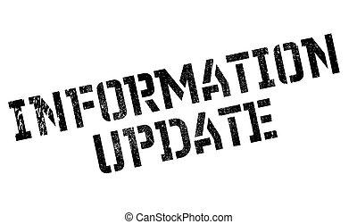 Information Update rubber stamp. Grunge design with dust ...
