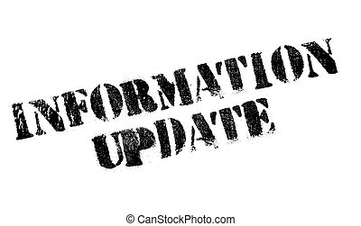 Information Update rubber stamp