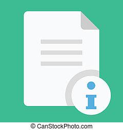 information, vecteur, document, icône
