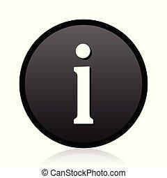 Information vector black icon. Round info sign. Web symbol.