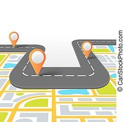 information, vej, baggrund, kort