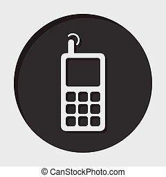 information, vieux, antenne, mobile, -, téléphonez icône