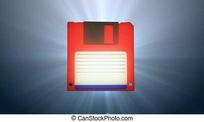 information, vieux, disquette, carriers., génération, disk.