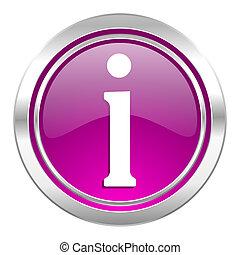 information violet icon