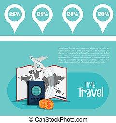 information, voyage, vacances, aviateur, temps, promotion