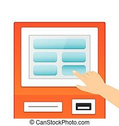 Informational terminal monitor - Information terminals...