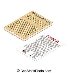 informationen, büroordner, vertraulich, datei