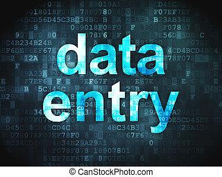informationen, concept:, datenzugang, auf, digitaler...