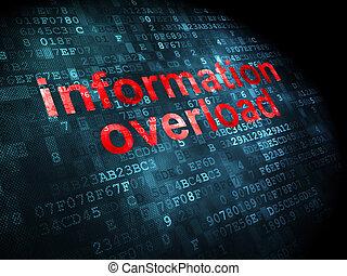 informationen, concept:, hintergrund, überlasten, digital