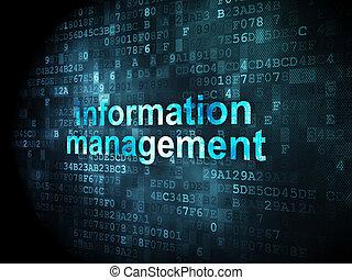 informationen, concept:, pixelated, wörter, informationen...