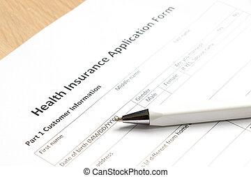 informationen, form, anwendung, gesundheit, hintergrund, buero, wartezeit, versicherung, füllung