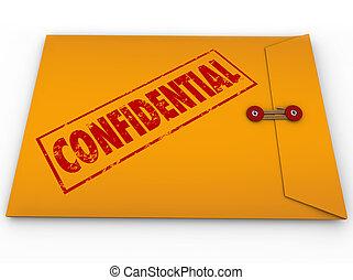 informationen, geheimnis, eingestuft, briefkuvert, ...
