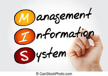 informationen, mis, geschäftsführung, system