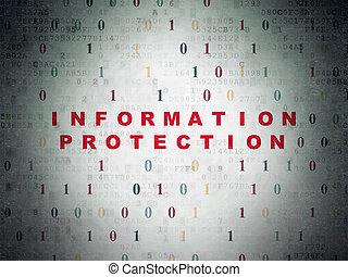informationen, schutz, papier, sicherheit, hintergrund, digital, concept: