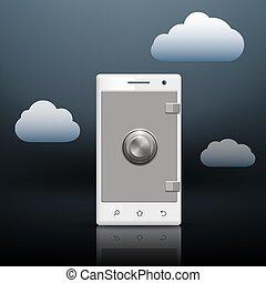 informationen, smartphone, dein, schutz