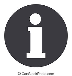 informations gray circle icon - Illustration of informations...