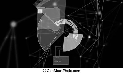 informatique, animation, réseau, connexions, balayage, fond...
