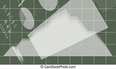 informatique, animation, vert, enregistrement, balayage, ...