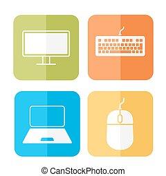 informatique, apparenté, icônes