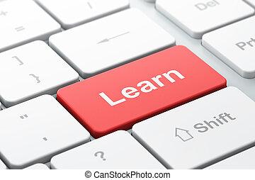 informatique, apprendre, education, concept:, clavier