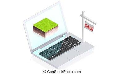 informatique, bloc, terrestre