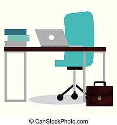informatique, bureau affaires, lieu travail