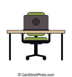 informatique, bureau bureau