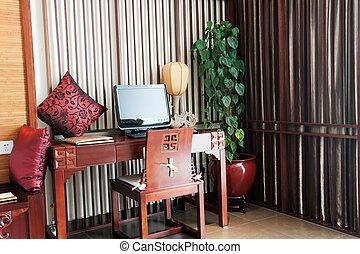 usine pot plante aquatica pot isol pachira blanc. Black Bedroom Furniture Sets. Home Design Ideas