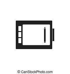 informatique, comprimé dessin, icône