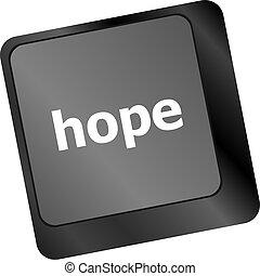 informatique, espoir, clã©, clavier