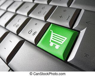informatique, faire courses ligne, icône principale
