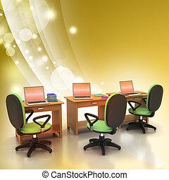 informatique, lieu travail
