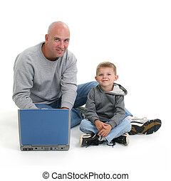informatique, père, fils