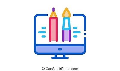 informatique, peinture, animation, icône