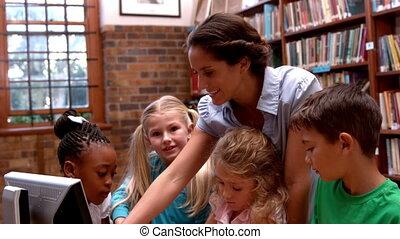 informatique, prof, élèves, utilisation