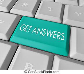 informatique, -, réponses, clã©, obtenir